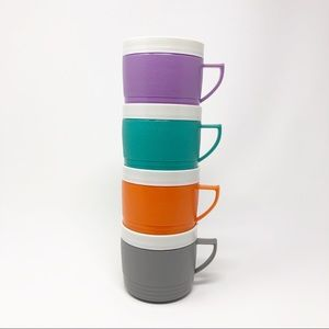Vintage Insulated Plastic Mugs Sunfrost Thermoware